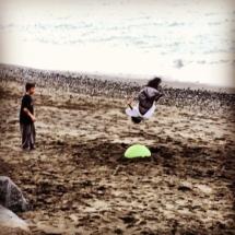 Spiaggia. Mare. Parkour.
